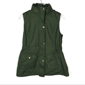 41 Hawthorn Green Vest with Hoodie Size Large